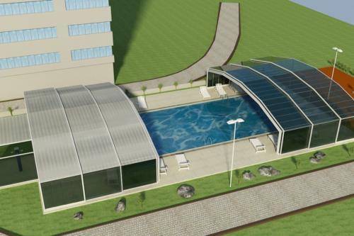 Сгъваеми стъклени системи за басейни